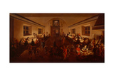 Dining Room at Night with Banqueting Guests, 1655 Giclee Print by Wolfgang Heimbach