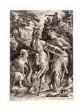 Minerva and Mercury Arming Perseus, 1604 Giclee Print by Jan Harmensz Muller