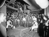 U.S.S. Oregon, Waiting for the Gong, 1896-1901 Photographic Print by Edward H. Hart