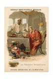 The Spartan Broth, Trade Card Produced by Chocolat Senez-Sturbelle Giclee Print