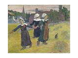 Breton Girls Dancing, Pont-Aven, 1888 Reproduction procédé giclée par Paul Gauguin