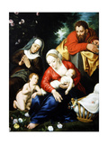 The Virgin and Child with St Joseph, Elizabeth and St John Giclee Print