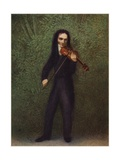 Portrait of Niccolo Paganini Giclee Print by Georg Friedrich Kersting