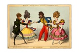 La Poule. Quadrille - Evening Fashions, Dedicated to the Heads of the Nation, 1827 Giclee Print by William Heath