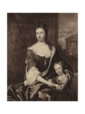 Queen Anne and Her Son William Duke of Gloucester Giclee Print by Michael Dahl