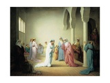 The Arrival into the Harem at Constantinople, 1861 Giclee Print by Henriette Browne