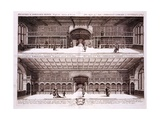 Interior of the Bodeleian Library, Oxford, from Oxonia Illustrata, 1675 Giclee Print by David Loggan
