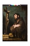 St. Francis in Ecstasy, C.1610-20 Lámina giclée por Bernardo Strozzi
