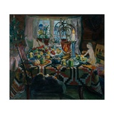 Christmas Day Giclee Print by Nikolai Astrup