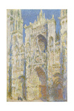 Rouen Cathedral, West Facade, Sunlight, 1894 Giclée-Druck von Claude Monet