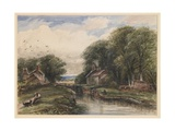 Shardlow Lock, with the Lock-Keeper's Cottage, 1883 Giclee Print by James Orrock