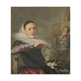 Self-Portrait, C. 1630 Gicléedruk van Judith Leyster