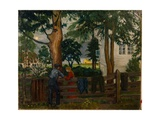 Summer Night by the Garden Gate Giclee Print by Nikolai Astrup