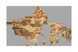Map, Madaba, Jordan Giclee Print