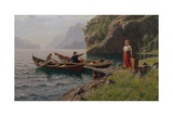 Everyday Life in the Fjords Giclee Print by Hans Andreas Dahl