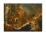 Mars Destroys the Temple of Minerva, 1724 Giclee Print by Jacques Ignatius De Roore