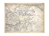 Map of the Battle of Dresden, Published by William Blackwood and Sons, Edinburgh and London, 1848 Giclee Print by Alexander Keith Johnston