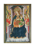 Virgin and Child with Angel Musicians Giclee Print by  Master of Burgo de Osma