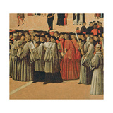 Procession in St. Mark's Square, Detail of Singers, 1496 (Detail) Giclée-tryk af Gentile Bellini