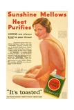 A 1930's Advertisement for Lucky Strike Cigarettes. from the Literary Digest Published 1931 Giclee Print