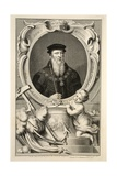 Portrait of John Russell, Illustration from 'Heads of Illustrious Persons of Great Britain', Pub.… Giclee Print by Jacobus Houbraken