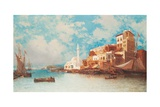 Eastern Harbour, 1871 Giclee Print by Jean Baptiste Henri Durand-Brager