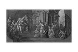 Solomon and the Queen of Sheba Giclee Print by Sebastiano Conca