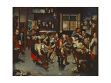 Farmers with a Lawyer, after 1615 Giclee Print by Pieter the Younger Brueghel