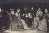 Portrait of Richard Wagner with Friends and Family Photographic Print
