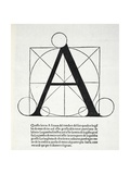 A, Illustration from 'Divina Proportione' by Luca Pacioli (C.1445-1517), Originally Pub. Venice,… Giclee Print by  Leonardo da Vinci