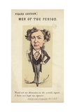 Figure of a Man Holding a Quill Pen Giclee Print by  Faustin