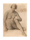 Study of a Female Nude, C.1857 Giclee Print by William Mulready