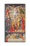 Crucifixion and Entombment, Central Panel of the Retable of the Passion, 1517-20 Giclee Print by Antonio Ronzen