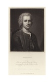 Portrait of Jean-Jacques Rousseau Giclee Print by Maurice Quentin de La Tour