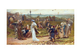 Gilbert À Becket's Troth, the Saracen Maiden Entering London at Sundown, 1872 Giclee Print by George John Pinwell