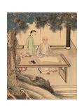 Yuan Mei and His Female Students Giclee Print by You Zhao and Wang Gong, Yuan Mei