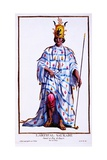 King of Kayor, Llartifal Saukabe, from 'Receuil Des Estampes, Representant Les Rangs Et Les… Giclee Print by Pierre Duflos