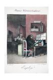Employé, Illustration from 'Moeurs Administratives, Dessinées D'Après Natur Giclee Print by Henri Bonaventure Monnier