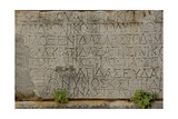 Greece. Sparta. Inscription on the Stone. Greek Writing Giclee Print