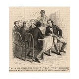 The Assassination of President Lincoln; Have You Heard the News Giclee Print