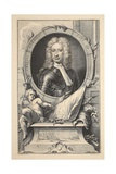 Portrait of Charles Mordaunt, Earl of Peterborough, Illustration from 'Heads of Illustrious… Giclee Print by Jacobus Houbraken