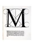 M, Illustration from 'Divina Proportione' by Luca Pacioli (C.1445-1517), Originally Pub. Venice,… Giclée-Druck von  Leonardo da Vinci