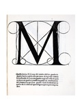 M, Illustration from 'Divina Proportione' by Luca Pacioli (C.1445-1517), Originally Pub. Venice,… Giclee Print by  Leonardo da Vinci