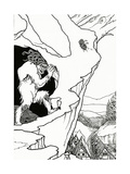 The Landslip, Frontispiece of 'Pastor Sang' by Bjornon, 1899 Giclee Print by Aubrey Beardsley