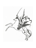 Puck on Pegasus, 1894 Giclee Print by Aubrey Beardsley