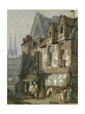 Street Scene, Bayeux, Normandy, 1820-52 Giclee Print by Samuel Prout
