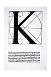 K, Illustration from 'Divina Proportione' by Luca Pacioli (C.1445-1517), Originally Pub. Venice,… Giclee Print by  Leonardo da Vinci