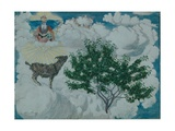 The Goat That Came to Heaven Giclee Print by Nikolai Astrup
