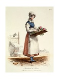 Parisian Rose Seller, Print Made by Delpech, 1820 Giclee Print by Carle Vernet