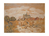 Notre Dame De Paris Giclee Print by Jean Francois Raffaelli